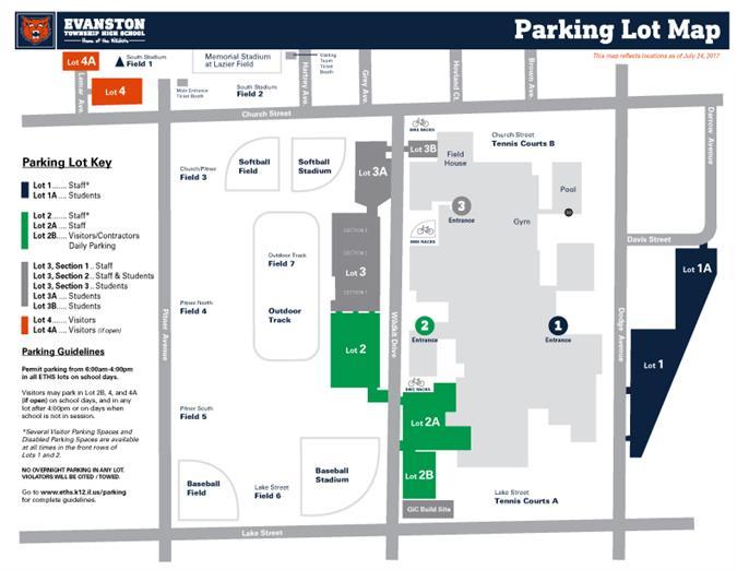 Eths Parking Lot Map