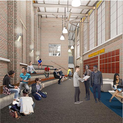 Entrance 3 Courtyard Rendering