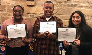 Kiwanis Club honorees Dec 2017